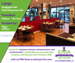 Largo - KMA Network Meeting @ Speggtacular | Largo | Florida | United States