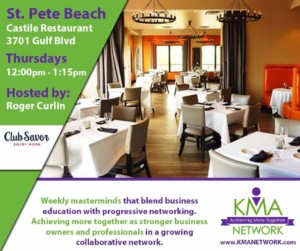 St. Pete Beach - KMA Network Meeting @ Castile Restaurant inside Hotel Zamora | St. Pete Beach | Florida | United States