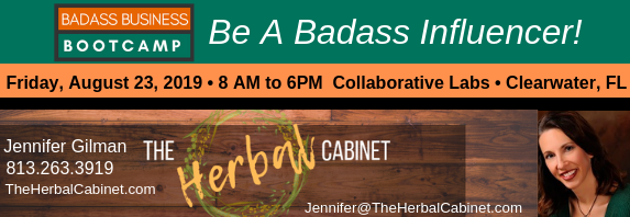 Logo for The Herbal Cabinet, Badass Bootcamp Sponsor