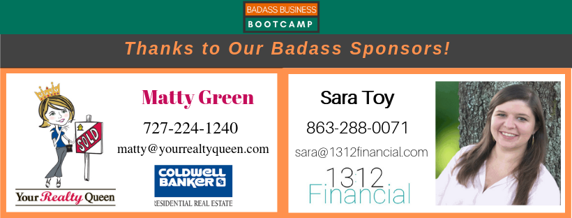 Matty Green & Sara Toy Bootcamp Sponsors