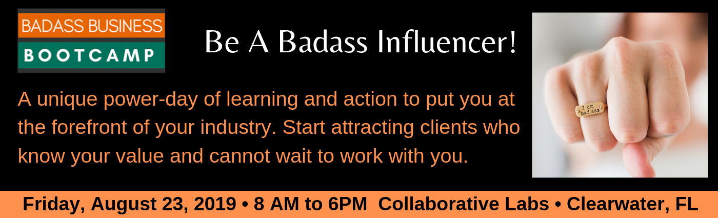 Aug 23 Badass Business Bootcamp