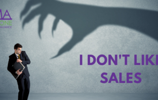 I don't like sales with an image of a man cowering from a shadow