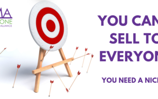 You can't sell to everyone picture of a target