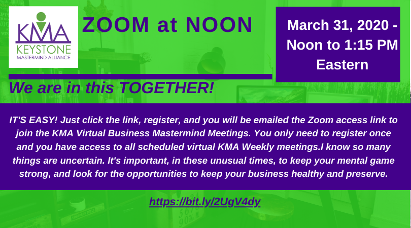 ZOOM at NOON - Virtual Meeting